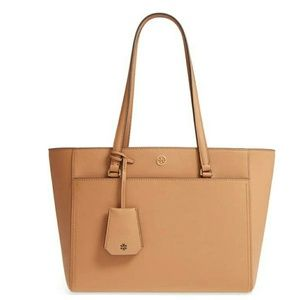 New Tory Burch Small Robinson Leather Tote